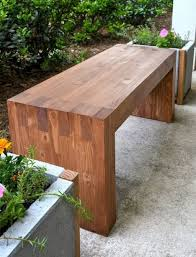 Outdoor: Beautiful DIY Cinder Block Bench - DIY Benches