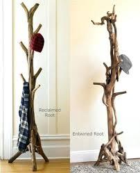 Rustic Standing Coat Rack Diy Coat Tree Items Similar To Tree Rustic Stand Coat Tree Coat Rack 9