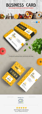 Fast Food Business Card Design Illustrator Business Card Business Card Design Template For