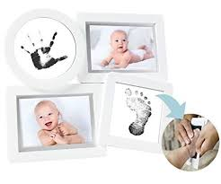 baby collage frame pearhead baby prints newborn collage frame w clean touch ink pad