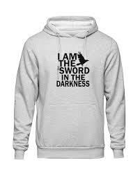 I Am The <b>Sword In The Darkness</b> Hoodie – Purple Cherry Dash