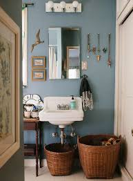 Easy & Reversible Ways to Add Style to Your Bathroom. Blue BathroomsBlue  Bathroom DecorBohemian ...