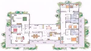 pretty u shaped floor plan 16 house plans with pool in middle best of unique