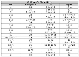 Kids And Girls Shoes Kids Shoes Euro Size Conversion