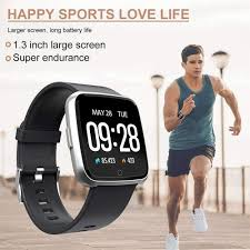 1.3'' Large Touch Screen <b>Fitness</b> Tracker, <b>Waterproof Smart Watch</b> w ...