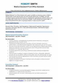 Office Assistant Duties On Resume Front Office Assistant Resume Samples Qwikresume