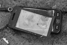 Image result for smashed mobile