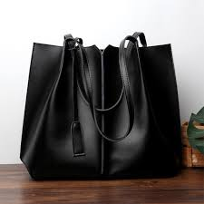 black soft leather tote large genuine leather per bags