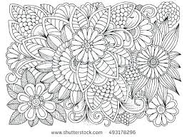 Printable Flower Coloring Pages Pdf Simple Free Collection For