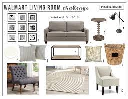 Walmart Living Room Sets Walmart Living Room Budget Design Challenge Postbox Designs
