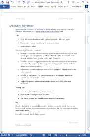 How To Create An Executive Summary In Word 15 X White Paper Templates Ms Word Templates Forms Checklists