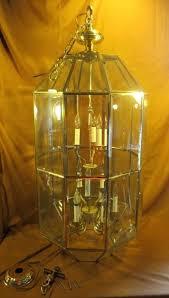 beveled glass chandelier large beveled foyer chandelier glass brass light w mount vintage beveled glass chandelier