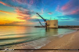 Pumphouse At Sunrise Palm Beach Inlet Singer Island Florid