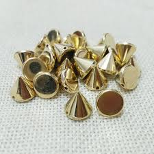 jewelry making punk style rivet spike taper studs have holes slide charms bracelet choker kolye findings