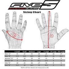 Five Gloves Size Chart Five Gloves Rs4 Gloves