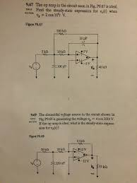 amplifier um size op amp sinusoidal phasor type circuit ysis p chegg com problems in steady