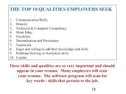 Qualities To Put On A Resume Good Good Work Qualities For Resume