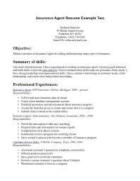 template insurance resume sample insurance resume
