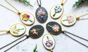 Job Description Embroidery Designer Artist Crafts Colorful Embroidered Jewelry Inspired By Her