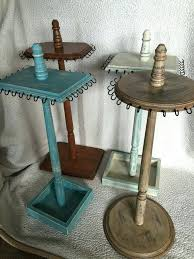Wooden Necklace Display Stands Necklace Stand White Handmade Jewelry Display Necklace Stand Body 95