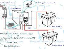 ups & inverter wiring diagram for one room office ~ electrical luminous inverter connection diagram at Inverter Wiring Diagram