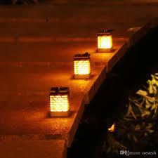 Orange Garden Lights 2019 Solar Led Garden Lights Flickering Dancing Lantern Fire Dancing Lamp Outdoor Led Solar Lights Fence Flickering Dancing From Crestech 15 76