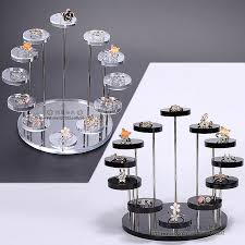 Gem Display Stands Fashion Multi Layer Acrylic Ring Display Rack Earring Holder 18