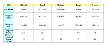 74 You Will Love Youth Soccer Shin Guard Size Chart