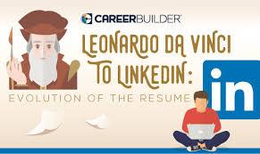 Leonardo Da Vinci To LinkedIn Evolution Of The Resume Fascinating Leonardo Da Vinci Resume