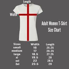 Small T Shirt Size Chart Adult Women T Shirt Size Chart