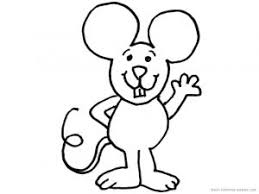 Small Picture Mouse Coloring Pages fo Kids Preschool and Kindergarten