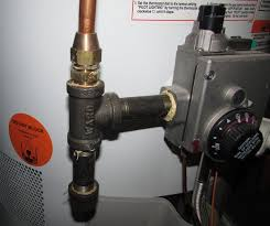 sediment trap at water heater