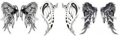 Mužské Tetování Na Rameni Je Malé Abstrakce Tetování