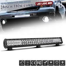 Suv Light Bar Details About Led Work Light Bar Flood Spot For Golf Suv Boat Cart Driving Lamp 28inch 180w