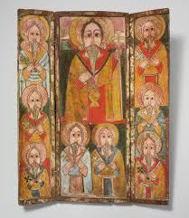 african christianity in essay heilbrunn timeline of   icon triptych ewost atewos and eight of his disciples