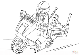 Small Picture Lego Moto Police coloring page Free Printable Coloring Pages