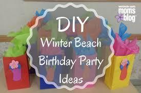 diy winter beach birthday party ideas