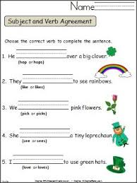 St Patricks Day Verb Tense Practice Teaching In March Subject
