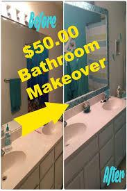 diy tiled bathroom mirror frame no
