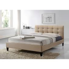 tufted upholstered beds. Altozzo Hermosa Beige Queen Upholstered Bed Tufted Upholstered Beds