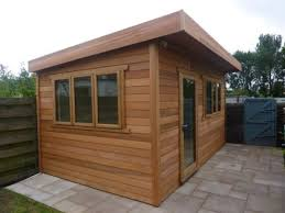 outside office shed. cedar garden office edinburgh scotland outside shed h