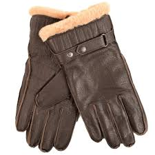 barbour brown leather gloves