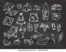 free chalkboard background beach theme doodle on chalkboard background stock vector hd royalty