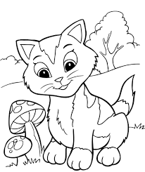 Small Picture Coloring Pages Of Kittens And Puppies To Print Dalarcon Com