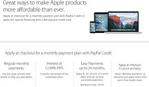 Credit Card Payment Plan Apple Drops Support For Paypal Credit Payment Plans In U S Online