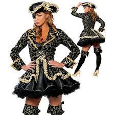 Pirate Costume Pattern Enchanting Deluxe Women Costume Lapel Collar Women Pirate Costume Flowers