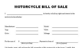 example of bill of sale the best free motorcycle bill of sale