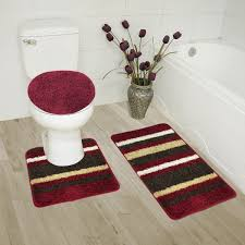 abby 3 piece bathroom rug set bath mat contour rug lid cover