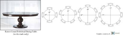 kitchen table sizes round with size of 8 person dining images room tables