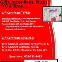 Holiday Gift Certificates Holiday Gift Certificate Specials Creative Spirits Sioux Falls